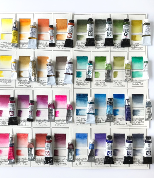 Watercolor paints organization