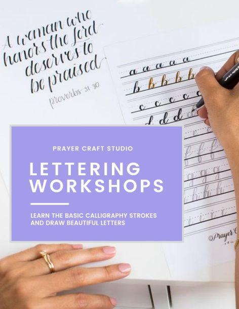 Lettering workshop poster