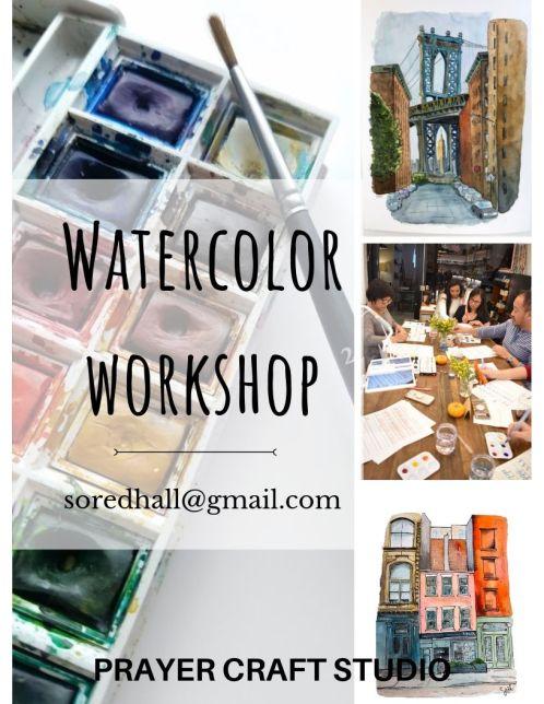 Watercolor Workshop poster
